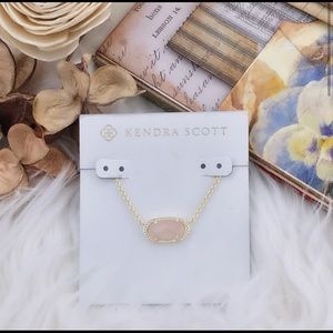Kendra Scott dusty pink stone with gold chain